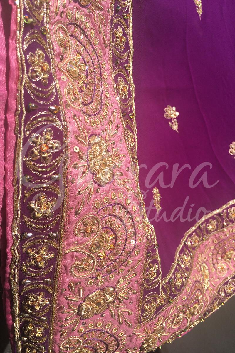 Pink Satin Silk Gharara