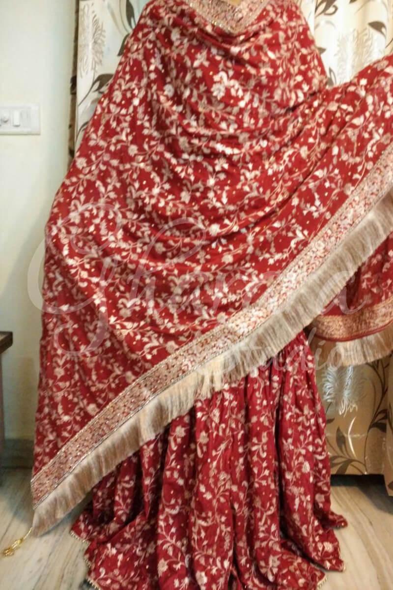 Red Silk Gharara