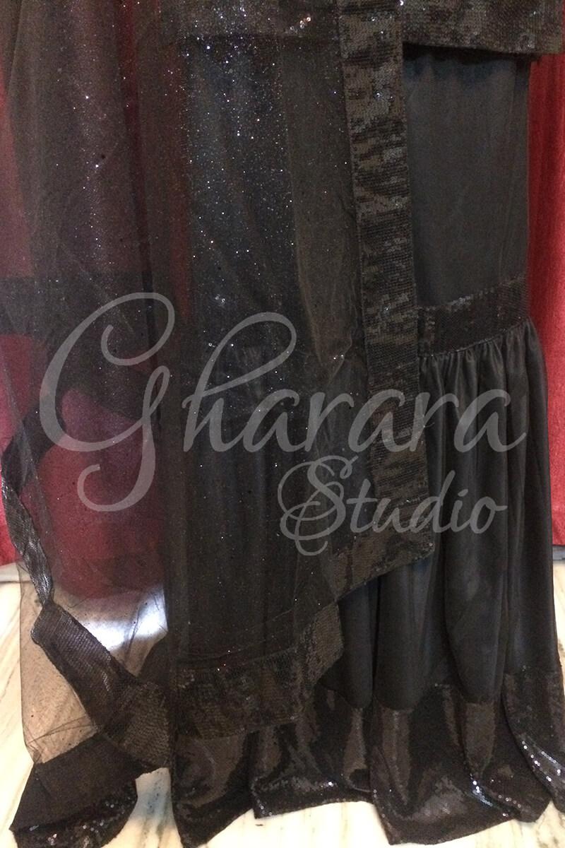 Black Net Gharara