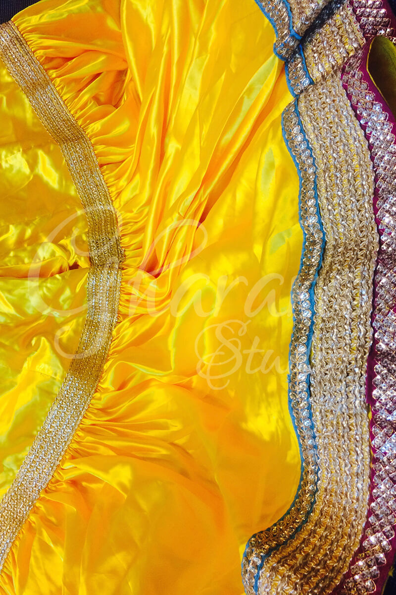 Yellow Satin Gharara