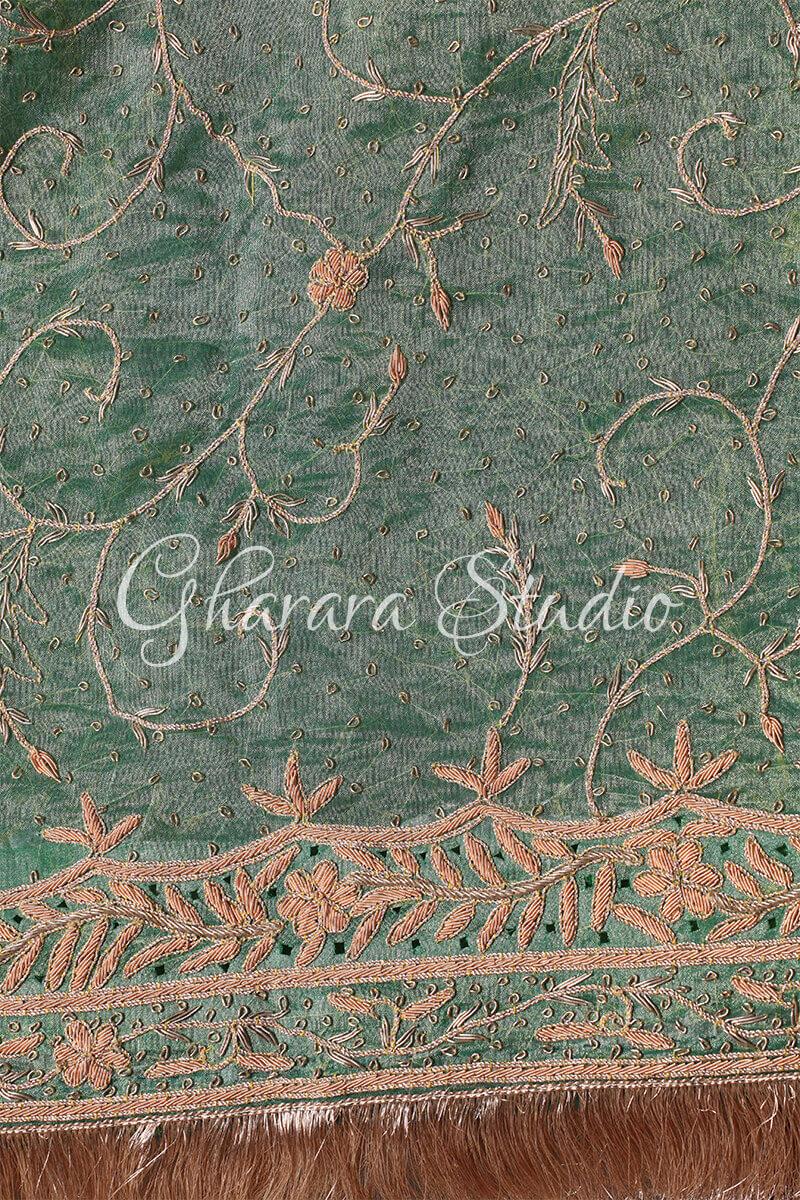 LIGHT GREEN GHARARA