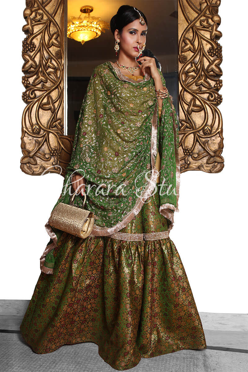 Gharara studio gharara designer bridal gharara party for Online designs