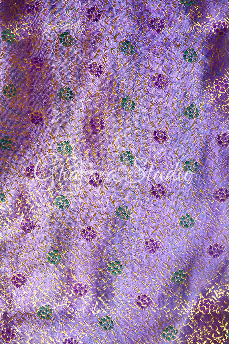 MAUVE AND OLIVE GREEN GHARARA