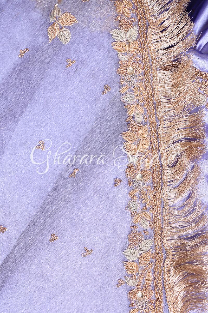 BRIGHT MAUVE GHARARA