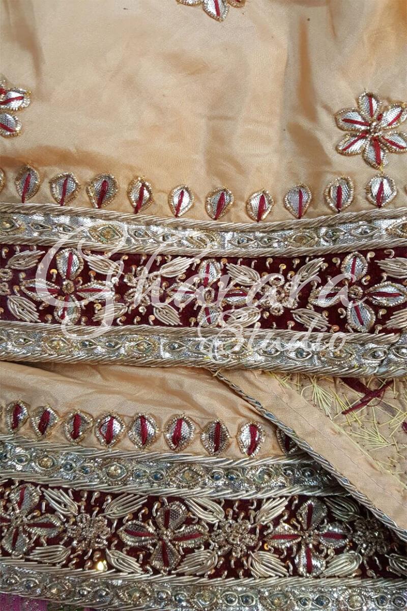 Golden Gota Patti Gharara